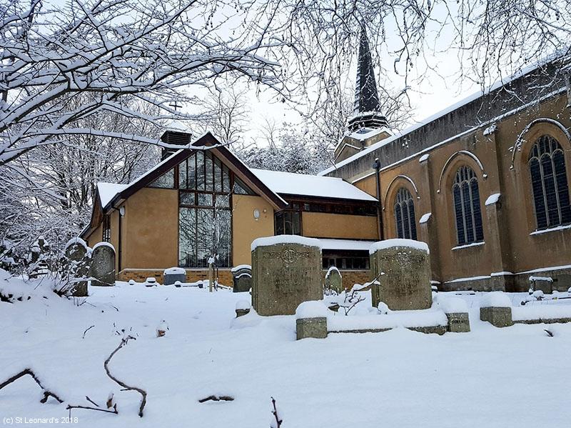 St Leonard's in the snow