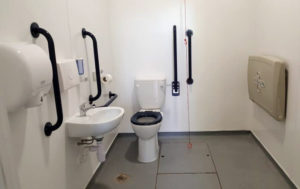 There is a disabled access toilet with baby changing facilities